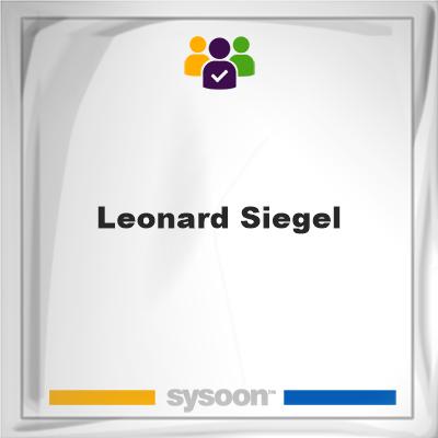 Leonard Siegel, Leonard Siegel, member