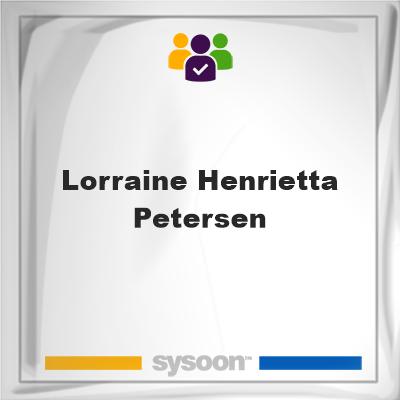 Lorraine Henrietta Petersen, Lorraine Henrietta Petersen, member