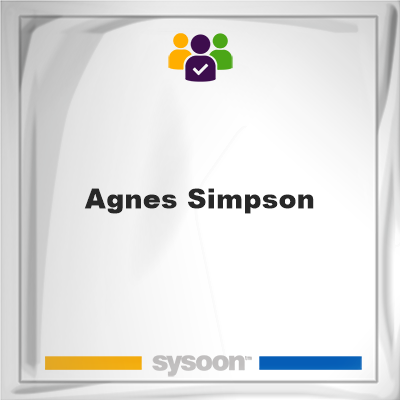 Agnes Simpson, memberAgnes Simpson on Sysoon
