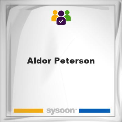 Aldor Peterson, Aldor Peterson, member