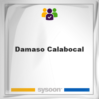 Damaso Calabocal, memberDamaso Calabocal on Sysoon