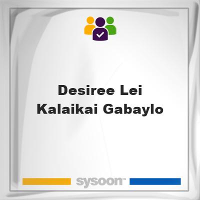 Desiree Lei Kalaikai Gabaylo, Desiree Lei Kalaikai Gabaylo, member, cemetery