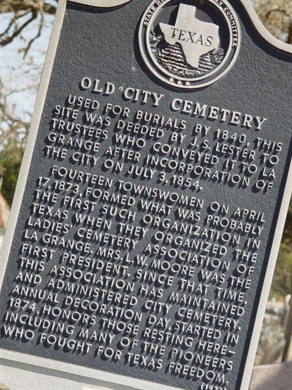 La Grange (TX) United States  City new picture : Old LaGrange City Cemetery Sysoon funeral directory [en]