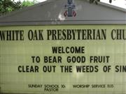 White Oak Presbyterian Church Cemetery Sysoon Funeral