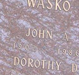 John A Wasko on Sysoon