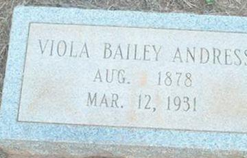 Viola Belle Bailey Andress on Sysoon