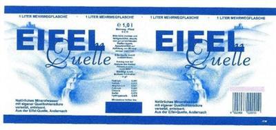 Eifel Quelle etichette