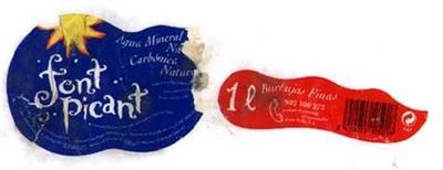 Eau minérale des Pyrénées. Source Font Picant