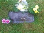 Alice Devens headstone