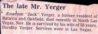 Emerson J Yerger