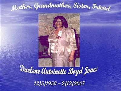 Darlene Antoinette Jones on Sysoon